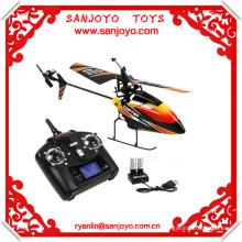 2.4G 4CH sola cuchilla v911 batería Gyro RC MINI exterior r / c helicóptero con LCD y 2 baterías v911 helicóptero