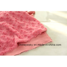 P/D Brushing Flower PV Fabric /PV Fleece/PV Plush Fleece
