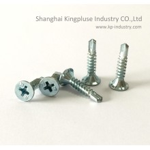 Phillips Recessed 4 Ribs Flat Head Self-Drilling Screw