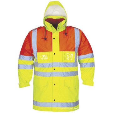 Vestuário de segurança protetora de alta visibilidade