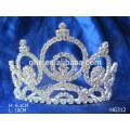 Coronas de metal corona de plástico tiara coronas de plástico y tiaras nuevo año de diamantes de la boda / tiara de novia corona de cristal