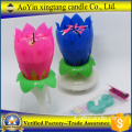 Popolare Fireworks Lotus Rotating Birthday Music Candle