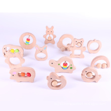 Eco-friendly Unfinished Natural Wooden Baby Toy