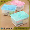 Large Transparent Plastic Storage Box with Wheels