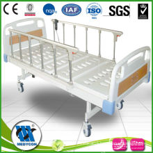 2-Functions electric hospital bed with aluminum rails