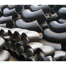 Tubulação de aço inoxidável sem costura SCH40 SCH80 montagem 45 90 graus cotovelo tubo encaixe largura ANSI B16.9