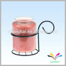 small glass bottle hanging wall flat metal hook metal stake for candle