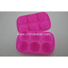 Customized for China factory of Silicone Cake Mold, Diy Silicone Cake Mold Baking Facility Silicone Red Rose Cake Tray export to Italy Importers