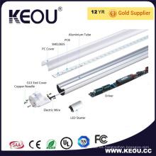 Ce / RoHS Comercial / Interior T8 LED Luz de tubo de techo