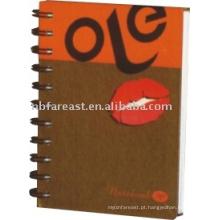 Caderno quente da espiral da venda do fasion 2015