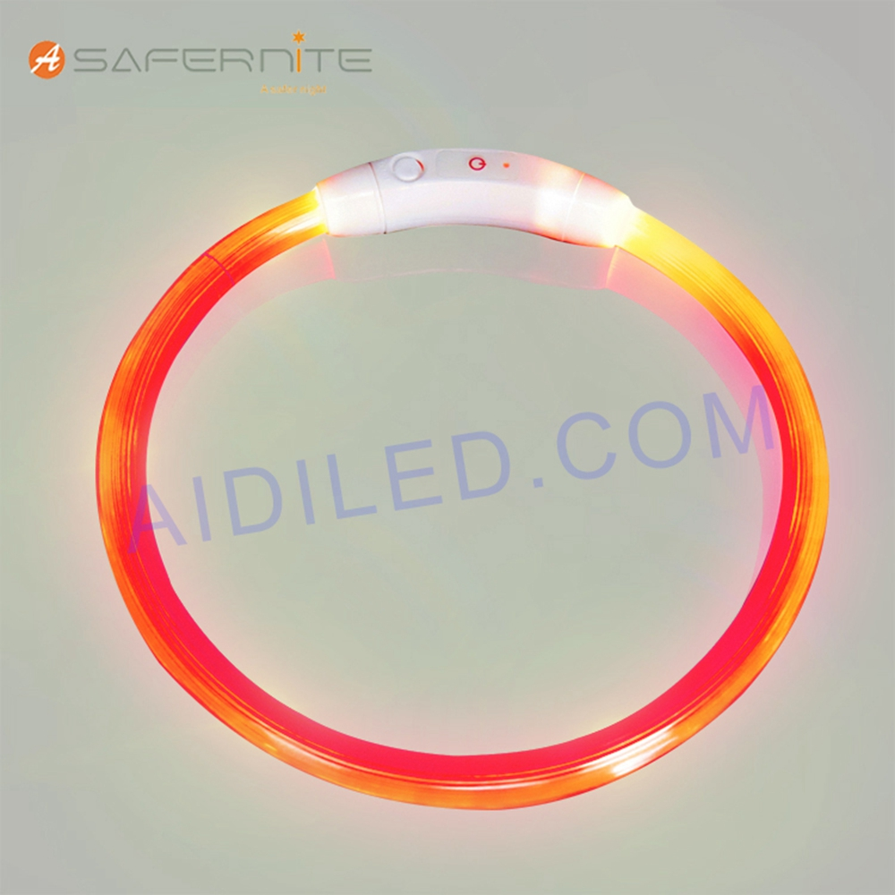 Removable An-Ti Lost Led Light-Up Dog Band