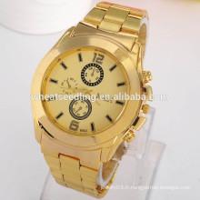 2015 Nouveau fabricant de montre de bande en or design