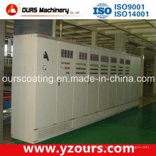 Sistema de controle elétrico de poupança de energia para linha de revestimento em pó