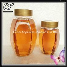 Tarro de miel de abeja de vidrio de 1000g