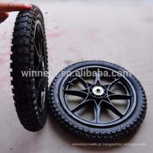 Roda pneumática de plástico 14x2.125 ampla roda de bicicleta
