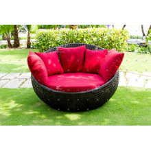 Top Selling Outdoor Poly Rattan Runde Sonnenliege