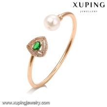 51650 Charmanter Diamantmode-Goldarmband handgemachte Perlenmanschette-Armbandschmucksachen