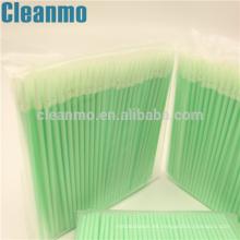 Uso industrial ESD Cleanroom Espuma de limpieza / hisopo de punta afilada 750 fibra óptica Swab-Nanotip para pantalla móvil