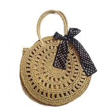 2021 circle shape straw beach lady fashion bag