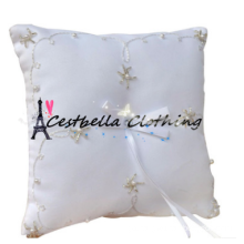 2016 Chic Bridal Wedding Supply Simple Beaded Petals Ring Bearer Pillow