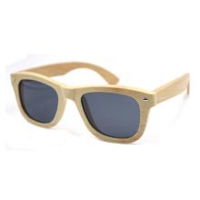 venda por atacado óculos de sol de bambu de marca de luz polarizada