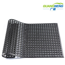 Grease-Resistant Rubber Mats in Wet and Muddy Environment