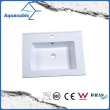 Polymarble White Resin Bathroom Sinks