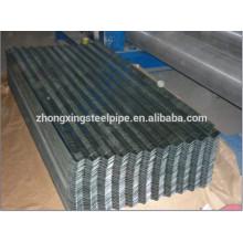 Galvanizado chapa de aço corrugada / telhadura do metal de folha / chapa de aço revestida de zinco