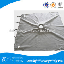 Finish treatment filter press cloth for horizontal belt filters