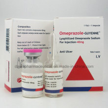 Anti-Ulcère Omeprazole pour Injection 40mg