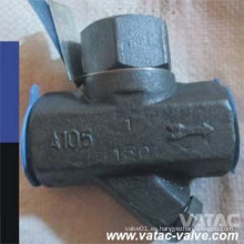 Trampa de vapor termodinámica de acero forjado A105n / Lf2 / F11 / F304 / F316 con extremos NPT / hilo / Bw / Sw