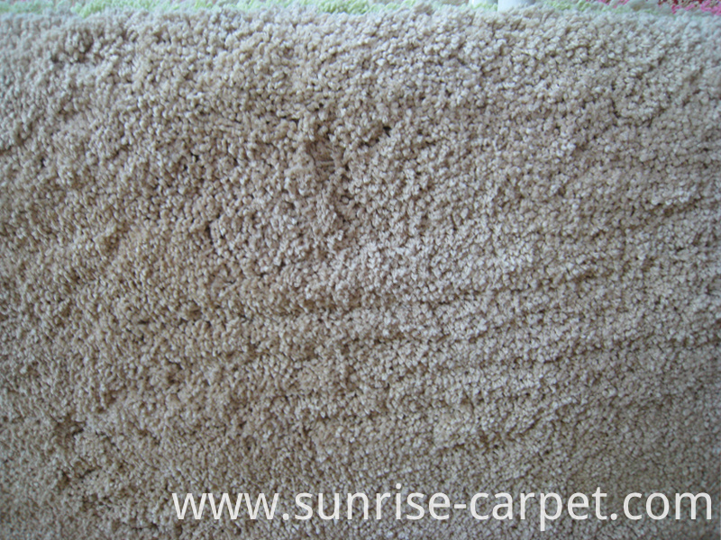 Microfiber Shaggy with Beige Color Rug