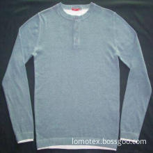 Sweater/men's pullover with jersey tee neck