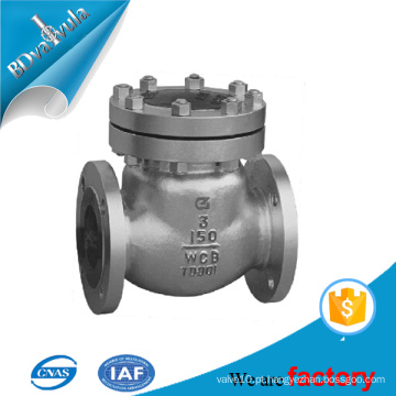 ASTM WCB a216 válvula de retenção padrão em baixa pressão pn16 - pn40