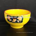 round edge ceramic noodle salad bowl