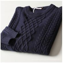 Caxemira de algodão P18B06TR camisola de malha para homens