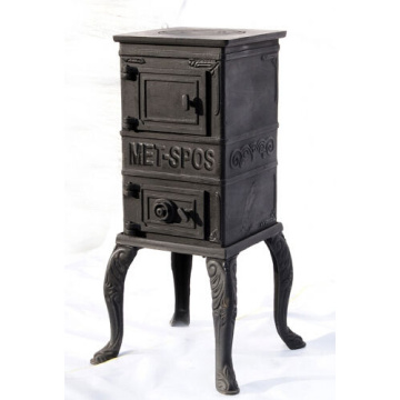 Square Cast Iron Stove Fireplace