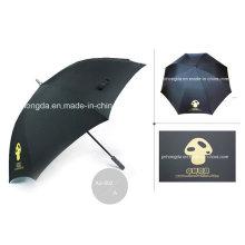 Manuelles geöffnetes Logo, das geraden Golf-Regenschirm druckt (YSGO0007)