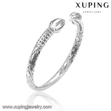 51530 Fashion Xuping High Quality Rhodium No Stone Jewelry Bangle