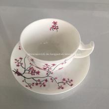 Keramik Knochen Porzellan Teetasse und Tray Set