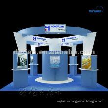 cabina de exposición de aluminio SHANGHAI exposición equipo de diseño libre exhibición exhbiition 3D stand dibujos