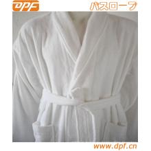 Семь одеждой, капюшоном ПОМПОН мягкий халат, ангельский Белый