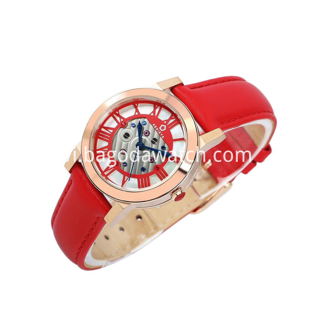 Women S Leather Strap Watch