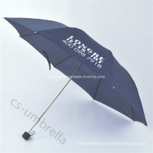 Pongee Canopy 4 Folding or Fold Umbrella with Pouch (YS4F0005)