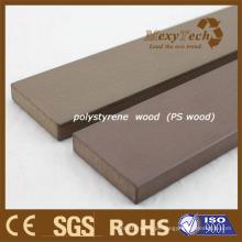 Prancha de madeira do Decking do plástico WPC Composto de madeira de madeira