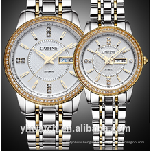 Luxury Full Stainless Steel Japan Automatic Mechanical Movement Sapphire Glass Couple Watches