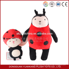 diseño lindo tela suave peluche señora bug felpa de juguete