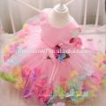 2017 party rose porter bébé fille robe design mignon fleur décoration fille princesse robes un pcs bébé fille robe pour le mariage
