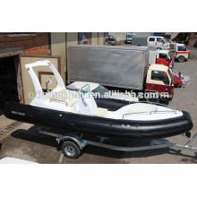barco inflável de casco de fibra de vidro fabricado na china