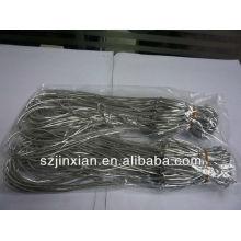 1.5mm Silver Metallic elastic bow with loop